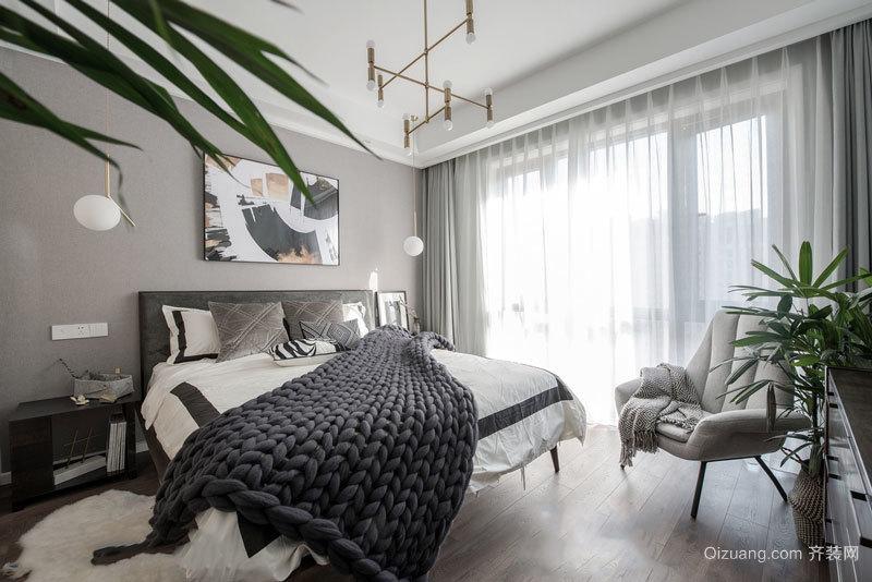 简单时尚现代风格简约卧室设计装修图