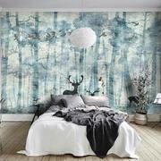 自然简约北欧风格卧室背景墙设计装修图