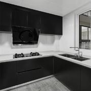 黑色个性现代风格厨房设计装修效果图