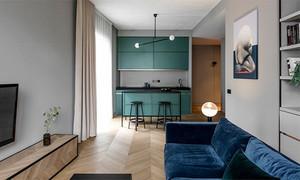 现代风格65平米时尚单身公寓设计装修实景图