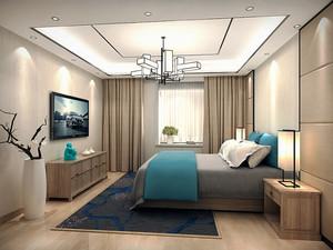 新中式风格精美93平米两室两厅室内装修效果图