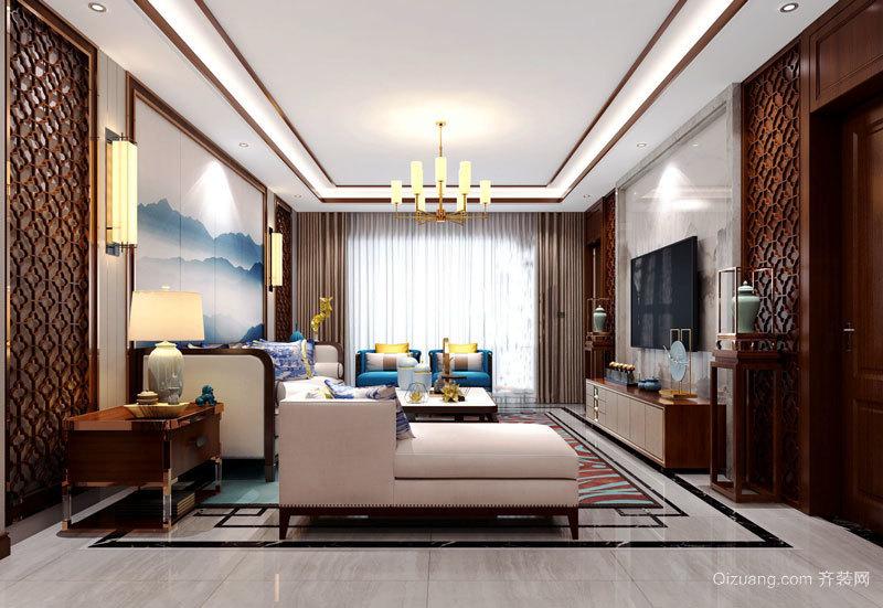 古典精致大户型中式风格客厅设计装修图
