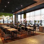 现代简约风格精美餐厅吊顶效果图