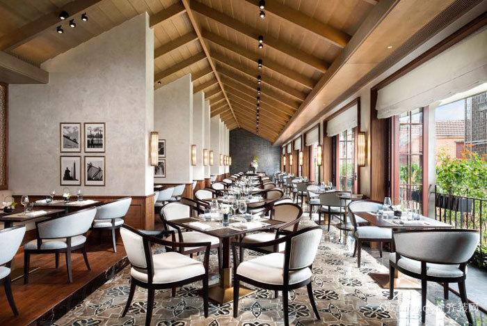 欧式风格经典酒店餐厅设计装修效果图