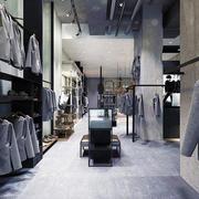 时尚现代风格男服装店设计装修效果图