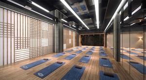 90平米简约风格瑜伽馆装修效果图