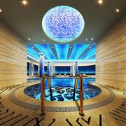 精致欧式风格酒店游泳池设计装修效果图