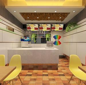 40平米简约快餐店设计装修效果图