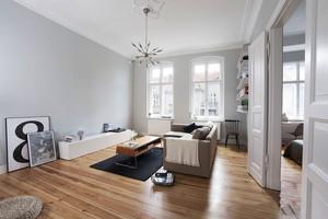 简单白色温馨北欧风格客厅装修图