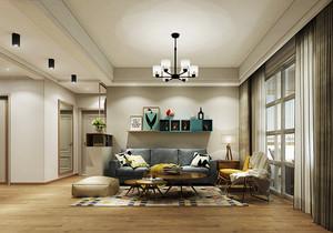 温馨简约北欧风格三室两厅室内装修效果图