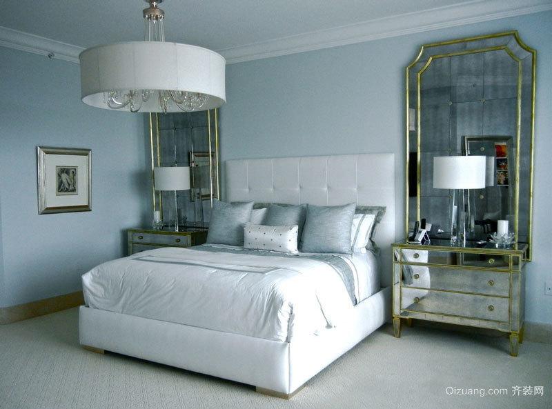 温馨白色简欧风格卧室设计装修实景图