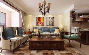 经典美式乡村风格80平米室内装修效果图