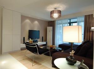 现代简约风格87平米两室两厅室内装修效果图