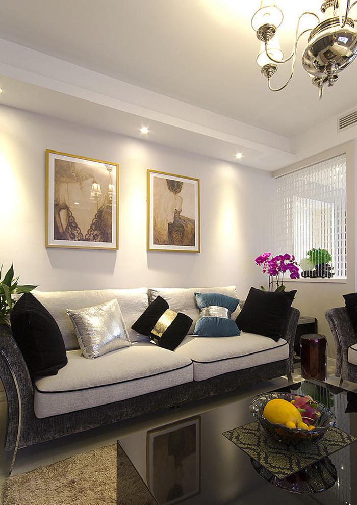现代美式风格温馨三室两厅室内设计装修图