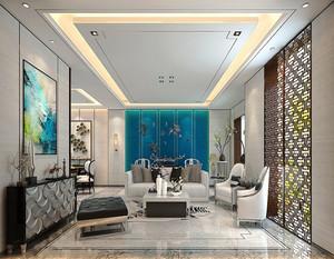 100平米新中式风格精装室内设计装修效果图