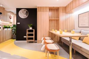 简约温馨宜家风格餐厅卡座设计装修图