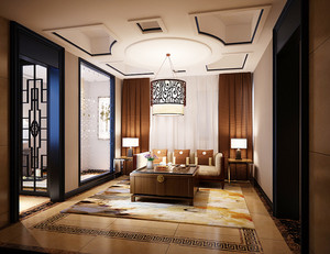 古典精美中式风格120平米室内装修效果图