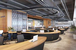86平米现代风格创意办公室装修设计图