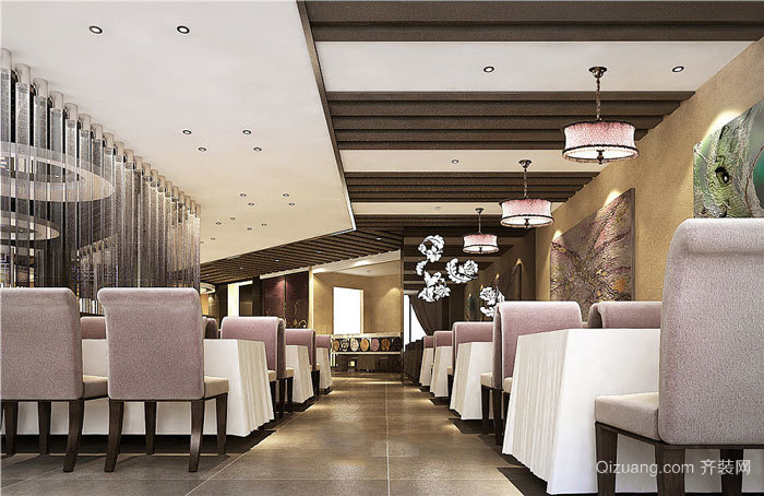 90简欧风格精装餐厅设计装修图