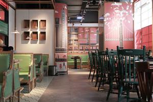 清新时尚混搭风格餐厅设计效果图