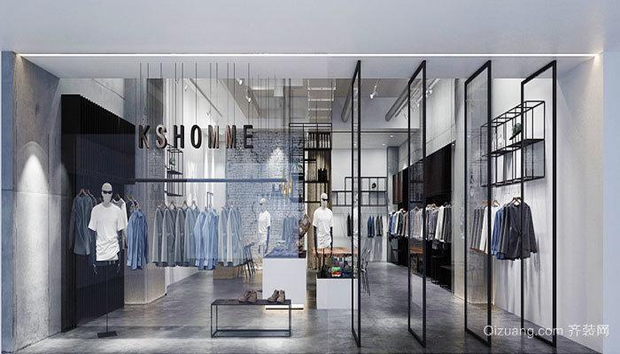 65平米简约风格服装店设计装修效果图