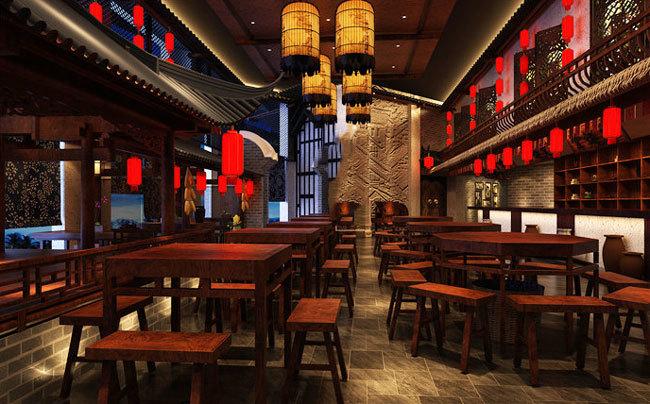 复古精致中式风格餐厅设计装修图