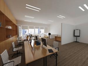 65平米简约小型办公室装修效果图