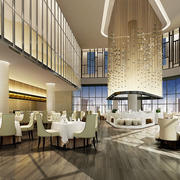 高端典雅欧式风格西餐厅装修效果图