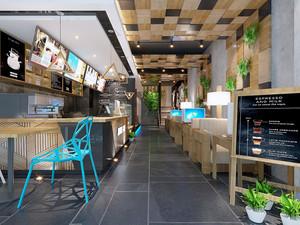 24平米时尚现代风格奶茶店装修效果图