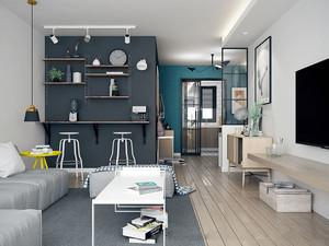 自然清新北欧风格简约两室两厅室内装修图