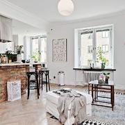 自然白色北欧风格客厅设计装修效果图