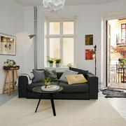 简约北欧风格单身公寓客厅设计装修图