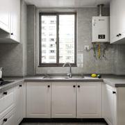 白色精美现代风格厨房设计装修效果图