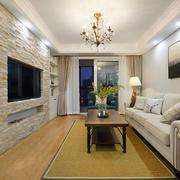 精美时尚现代风格客厅电视背景墙装修图