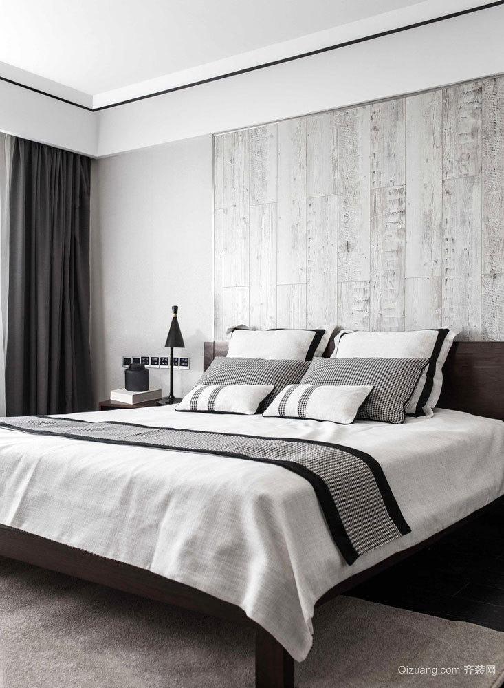 简单现代风格灰色卧室装修图