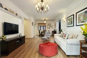 轻松现代美式风格客厅设计装修效果图