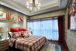 美式田园风格精致100平米室内装修效果图