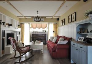 温馨美式乡村风格三室两厅室内装修图