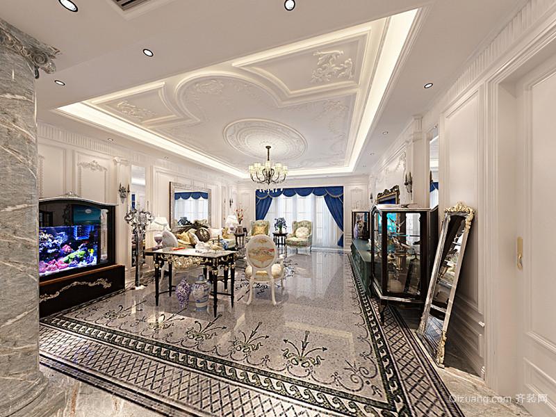 奢华精美欧式风格精美大户型室内装修图