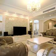 欧式风格奢华典雅大户型客厅装修效果图