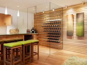 时尚现代风格玻璃酒柜设计装修效果图