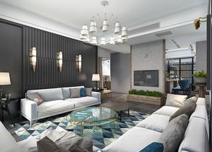 简单舒适现代风格两室两厅室内装修效果图