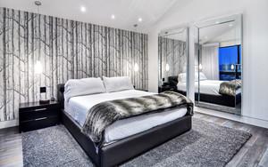 低调时尚现代风格男生卧室装修效果图