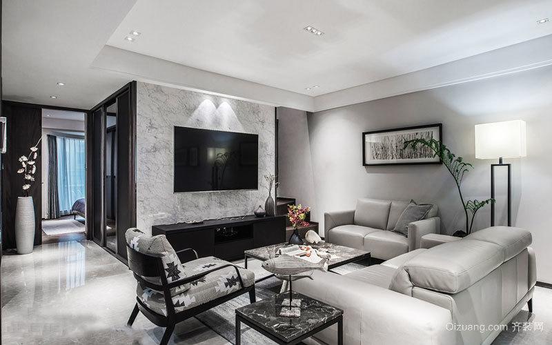 精致时尚现代风格客厅电视背景墙装修效果图