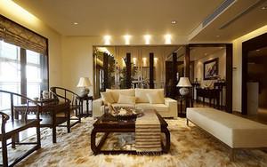 经典雅致中式风格大户型室内设计装修效果图