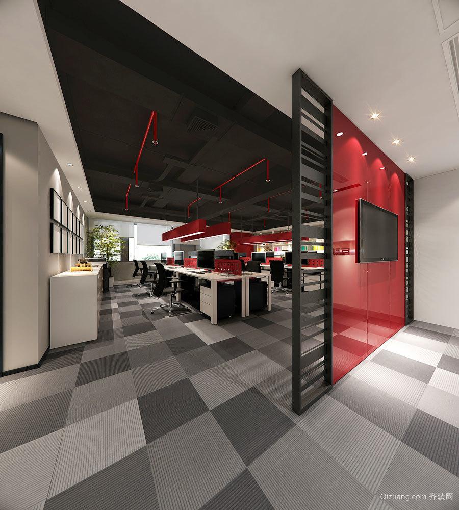 简约风格时尚办公室隔断设计装修效果图