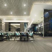 古代精致中式风格中餐厅装修效果图