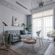 清新自然北欧风格小户型客厅装修效果图