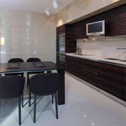 现代风格开放式厨房餐厅设计装修效果图