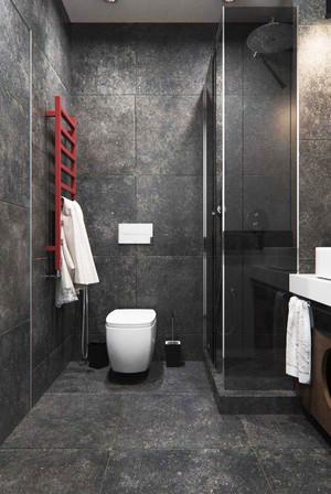 64平米现代风格精装单身公寓样板房装修效果图
